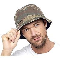 Thingimijigs Mens Reversible Camo/Navy Blue Bucket Hat