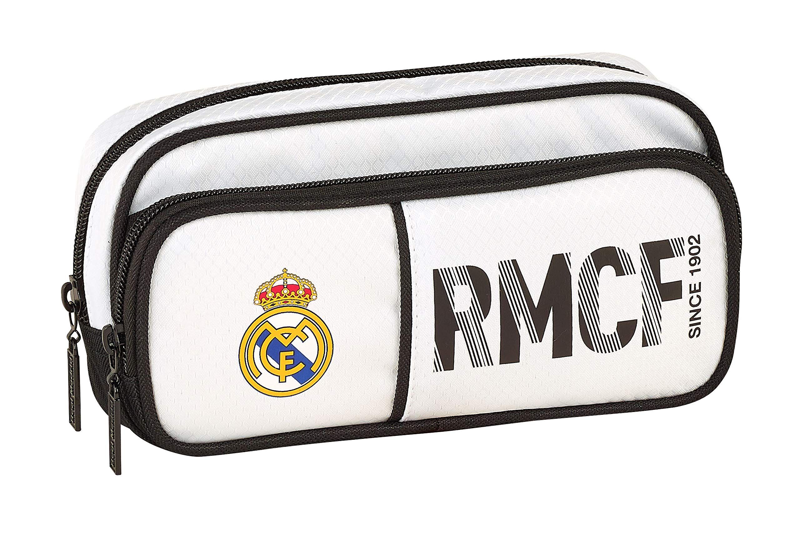 Real Madrid 811854602 2018 Estuches 21 cm, Blanco