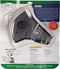 Environ Care Products Air-O Respiratory Mask With Silver Nano Activated Carbon Filter For Bikers (Grey_Large)