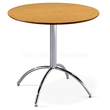 Kimberley Dining Table With Chrome Metal Legs Kitchen Cafe
