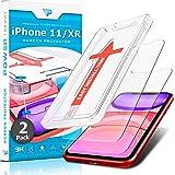 Power Theory iPhone 11/XR Screenprotector Kogelvrij glas Tempered Glass [2-Pack] met installatiehulp sjabloon, Gehard Glas be