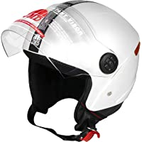 JMD HELMETS WONDER NEW Open Face Helmet (White, Large)