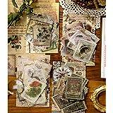 Ensemble D'autocollants Timbre-poste Vintage 240 Pièces, Autocollant Papier Déco Botanique Esthétique pour le Scrapbooking, B
