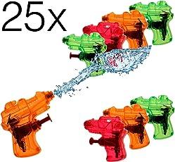 25x Mini piccolo Pistole ad acqua Pistole a spruzzo ad acqua Pistola ad acqua Pistole a spruzzo d'acqua piccola Fucile ad acqua Fucile ad acqua per bambini come regalo, festa di compleanno per bambini, giveaway, regali di souvenir per ragazzi e ragazze