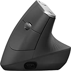 Logitech MX Vertical - Vertikale Ergonomische Maus, Kabellos Oder mit Kabel