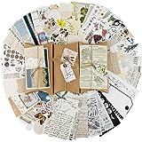 90pcs Autocollants de Scrapbooking Rétro Gommettes étiquettes, Stickers Vintage Scrapbooking DIY Album Photo pour Journal Art