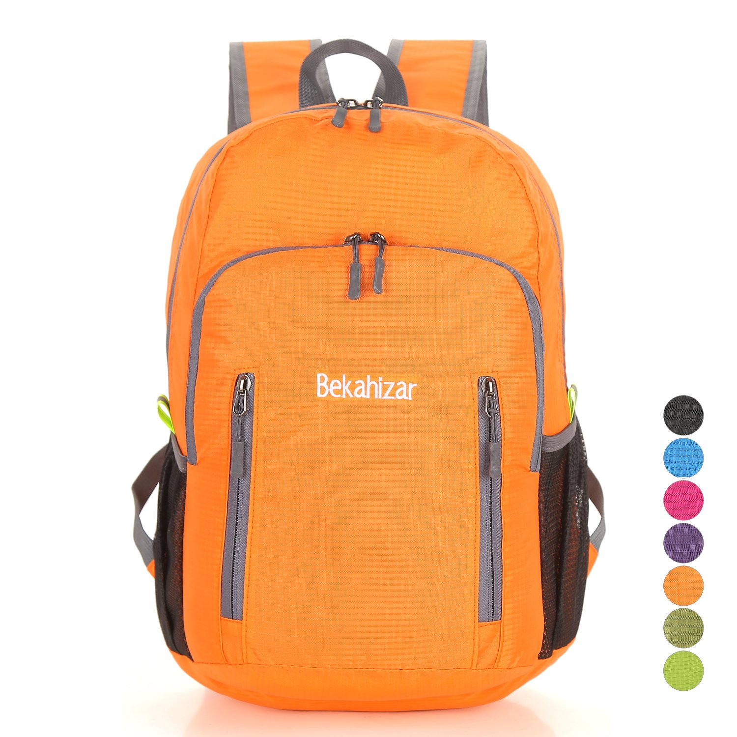 f4a78d98d227 Bekahizar 20L Ultra Light Weight Backpack Foldable Hiking Daypack Rucksack  Water