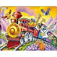 Larsen US14 Animaux du Zoo Lors d'un Voyage en Train, Puzzle Cadre avec de 30 pièces