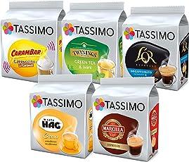 Tassimo Assorted Bestsellers Kaffee Bundle 1, Kapseln T-Discs Pods (72 Getränke)