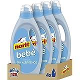 Norit Bebé - Detergente Líquido para Ropa de Bebé, Pieles Sensibles y Atópicas - Pack de 4 Unidades de 1125 ml: 4.500 ml
