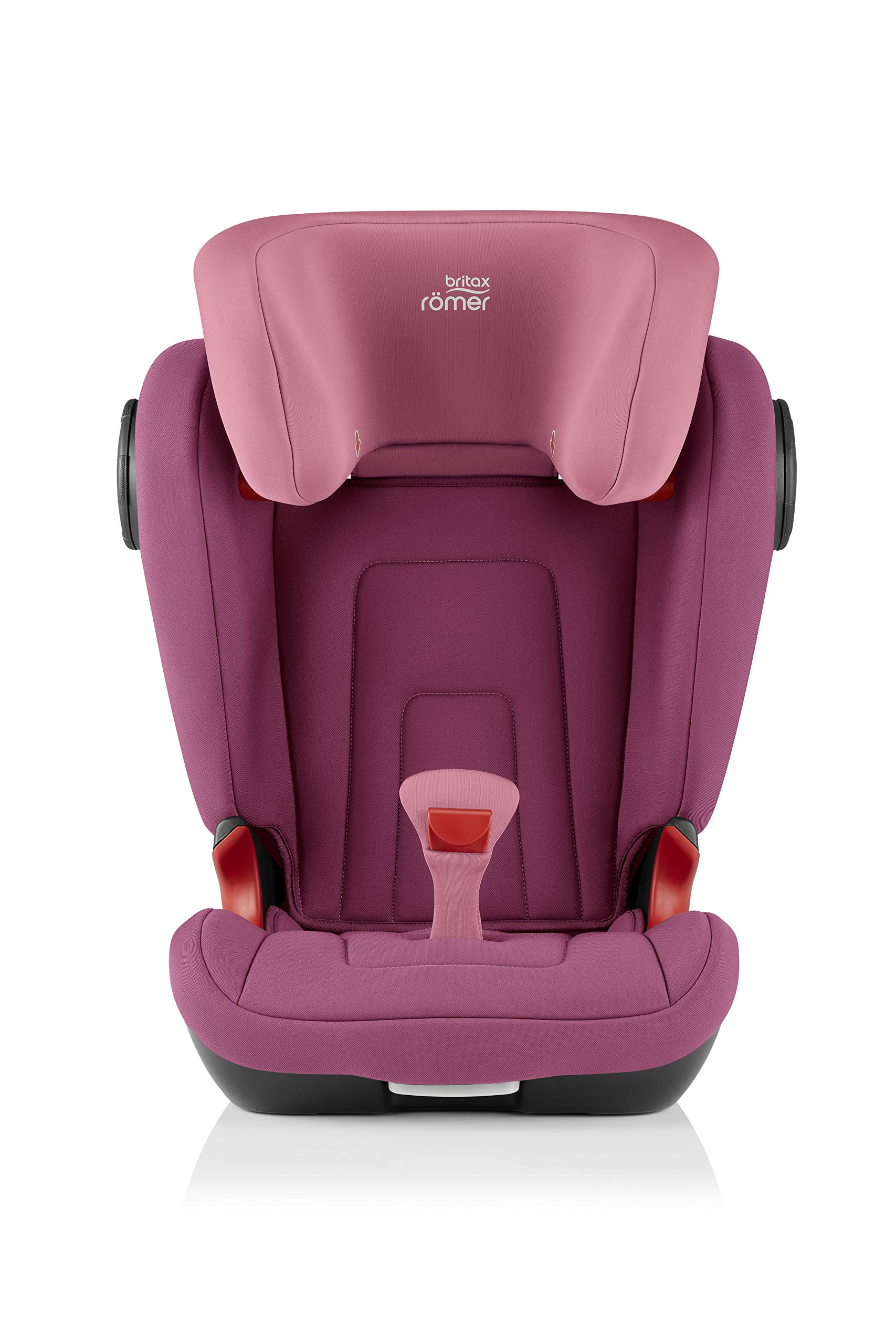 Britax Römer KIDFIX² S Group 2-3 (15-36kg) Car Seat - Wine Rose  Advanced side impact protection - sict offers superior protection to your child in the event of a side collision. reducing impact forces by minimising the distance between the car and the car seat. Secure guard - helps to protect your child's delicate abdominal area by adding an extra - a 4th - contact point to the 3-point seat belt. High back booster - protects your child in 3 ways: provides head to hip protection; belt guides provide correct positioning of the seat belt and the padded headrest provides safety and comfort. 2