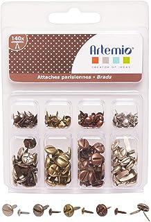 4,5 mm Sharplace 200 St/ücke Mini Brads Metall Musterklammern Musterbeutelklammern Verschlussklammern Klammern Mehrfarbig