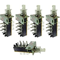 PGSA2Z™ Auto Lock Snap Uni-Direction PCB Push Button Switch DPDT 6 Pin (5Pcs)