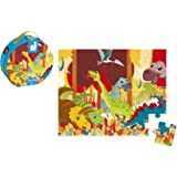 Janod J02873 - Puzzle Im Koffer 24 Teile, Dinosaurier