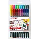 Edding e1200-20S - PACK con 16+4 ROT. 1200. COLORES 1-12, 14, 17, 19, 20, 64, 65, 66, 69, Multicolor