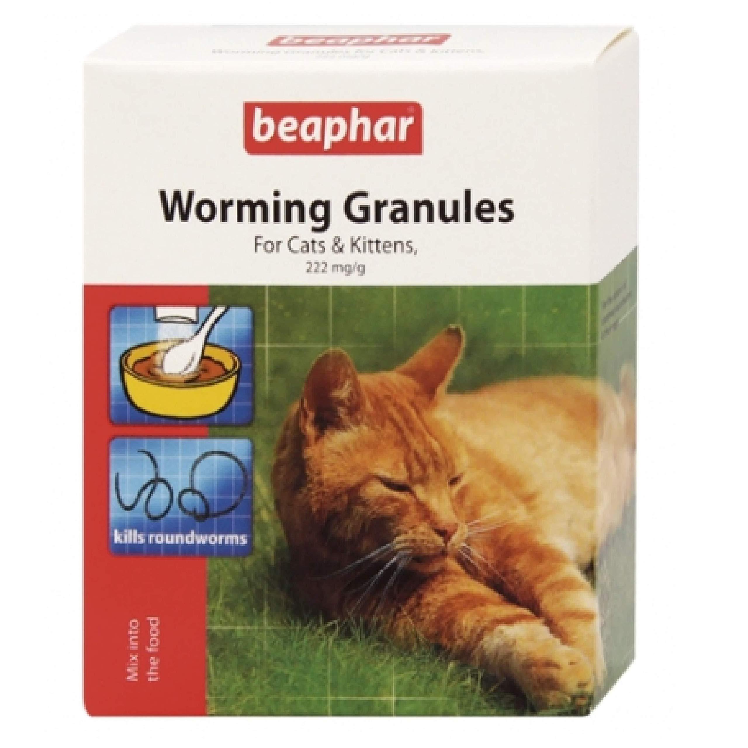 Leeway Beaphar – WORMER GRANULES FOR CATS & KITTENS – 4 Sachet Pack x2
