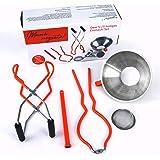 megusta!® Inmaakset 5-delig in geschenkdoos: trechter roestvrij staal, fijne zeef, glashever, opener tang, magneet voor dekse