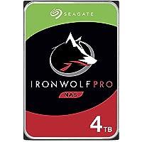 Seagate IronWolf Pro, NAS interne Festplatte 4 TB HDD, 3.5 Zoll, 7200 U/Min, CMR, 128 MB Cache, SATA 6 GB/S, FFP, inkl…