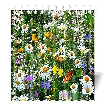 Violetpos Duschvorhang Natur Orchidee Blumen Hochwertige Qualität Badezimmer  120 X 180 Cm: Amazon.de: Küche U0026 Haushalt