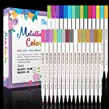 RATEL Marqueurs Métalliques, 30 Couleurs Brillantes Stylos marqueurs métalliques pour Bricolage Artisanat d'art, Peinture rup