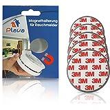 5x PLAVA Magnethalterung für Rauchmelder- Starke 3M Klebepads – Selbstklebend ohne Bohren – Rauchmelder Magnethalter – 5er Set Magnetbefestigung für Rauchmelder – 5 Brandmelder Magnetbefestigung