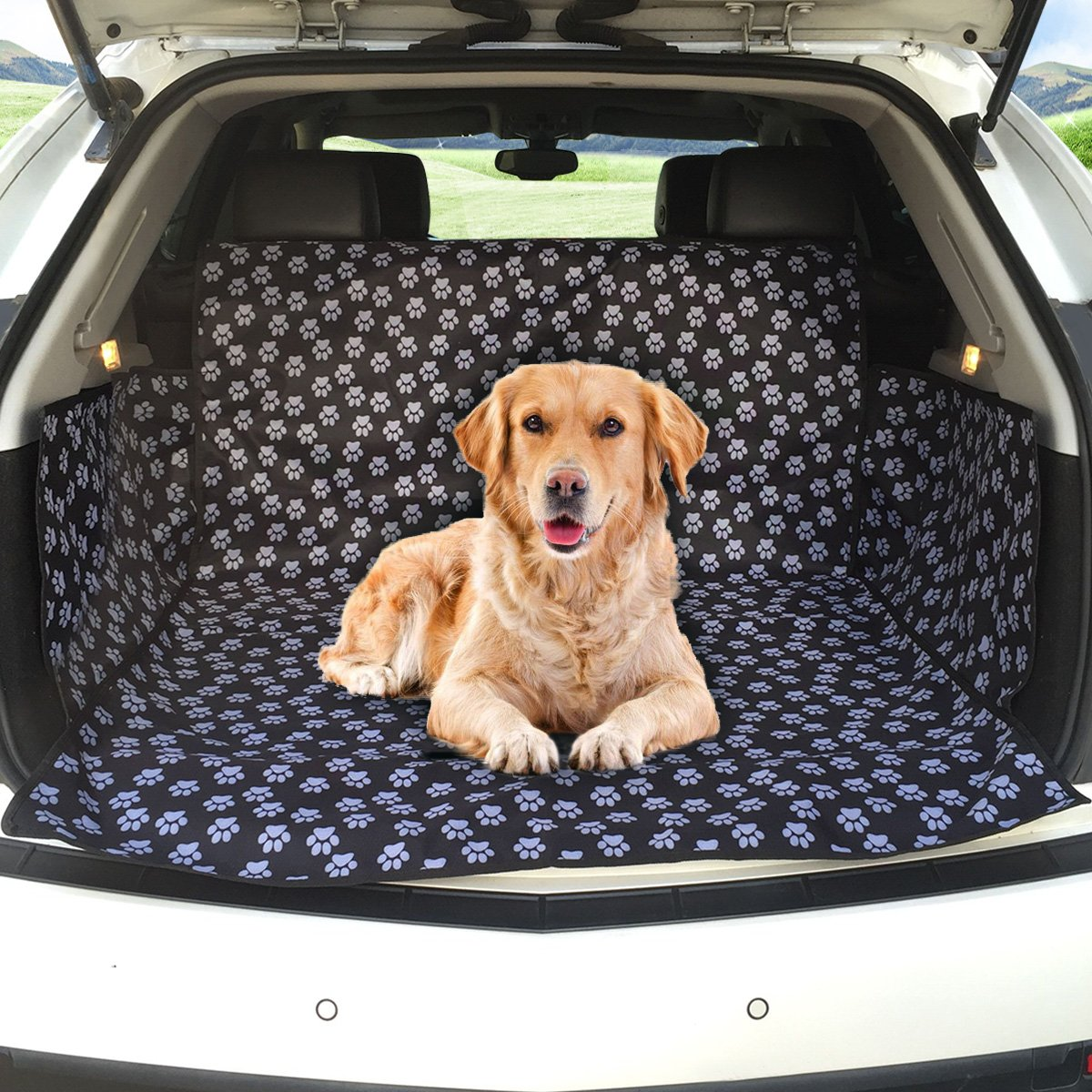 MATCC Car Boot Liner Protector Car Boot Cover Waterproof Boot Protection Pet Dog Trunk Liner Mat Blanket with Side…