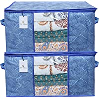 Kuber Industries Rectangular Leheriya Design Underbed Bag, Storage Organiser, Blanket Cover (Royal Blue, Extra Large…