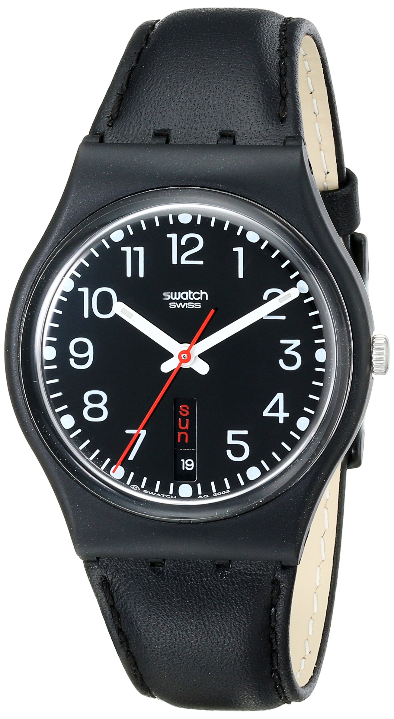 Swatch Gent Red Sunday GB 750 – Reloj Unisex de Cuarzo, Correa de