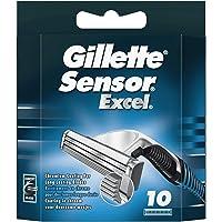 Gillette Sensor Excel Lamette di Ricambio Uomo, 10 Ricariche