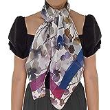 SilkOfComo-Foulard seta donna made in italy 100% - taglia unica 90x90 tutte le stagioni stile quadrato - Scialle Donna Elegan