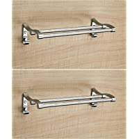 FORTUNE Stainless Steel Towel Rack Cum Towel Bar | Bathroom Towel Rod Holder | Wall Mounted Hand Towel Rail for Kitchen…