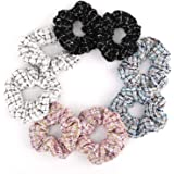Lewondr Elastici Capelli, [8 Pezzi] Capelli Scrunchies Fasce per Capelli in Stile Elegante Cravatte per Capelli Vogue Elastic