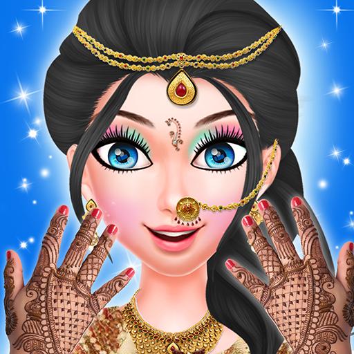 Indian Girl Wedding Fashion Salon-beauty salon makeover for girly girls who love fashion games