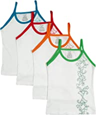 UCARE Pure Cotton Printed Slips for Girls & Kids (2007-Pack of 4)