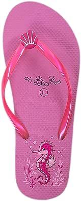 Flip Flops Womens Ladies Summer Beach Pool Shoes Seahorse Pattern