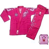 Lever de soleil pour femme jiu-jitsu brésilien, Autrement femelle JJB Kimonos Femme BJJ uniforme, Homme, rose, A0