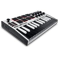AKAI Professional MPK Mini MK3 White – Tastiera MIDI Controller USB a 25 Note con 8 Drum Pad Retroilluminati, 8 Manopole…