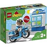 LEGO DuploTown MotodellaPolizia, Set di Mattoncini da Costruzionecon Figura del Poliziotto, Moto della Polizia, Giocattol