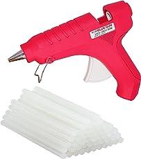 BillionBAG Hot Melt Glue Gun Kit 40 Watt, Electronic PTC Heating Technology Red (20 Hot Glue Gun Sticks Included, Professional Use)