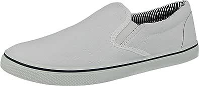 Scarpe da uomo modello espadrillas, ideali da abbinare all'abbigliamento casual, scarpe antiscivolo a mocassino ideali da ginnastica, disponibili nei numeri dal 40,5 al 47