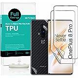 Ibywind Schermbeschermers voor OnePlus 8 Pro,[Pack van 2],met [Cameralens beschermfolie][Back Carbon Fiber beschermfolie][In-