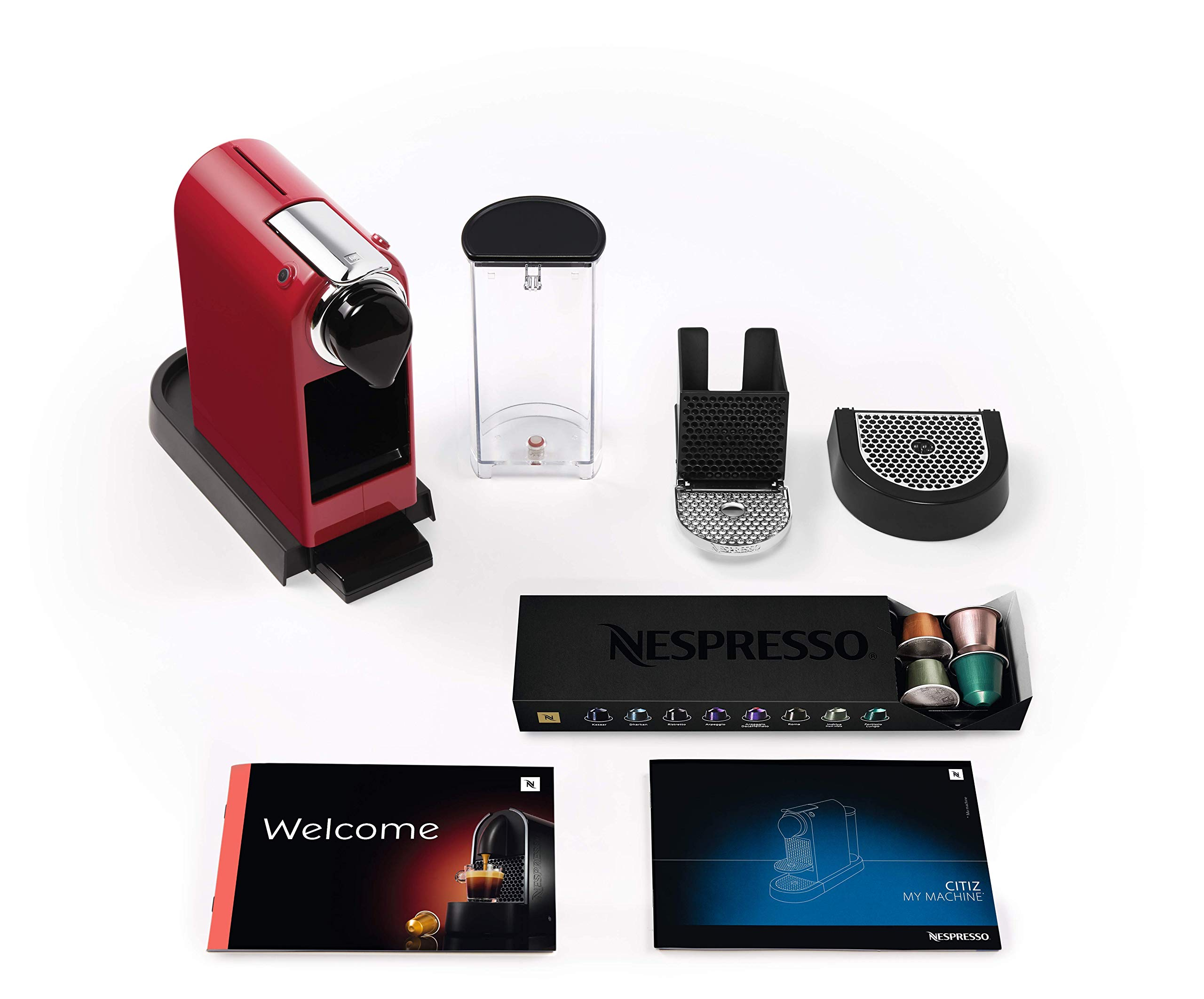 810VXoLSZbL - NESPRESSO KRUPS Citiz XN741540 Pod Coffee Machine-Red