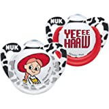 NUK Disney Baby Dummies | 0-6 Months | BPA-Free Silicone Soothers | Jessie & YeeeHaaw (Toy Story) | 2 Count
