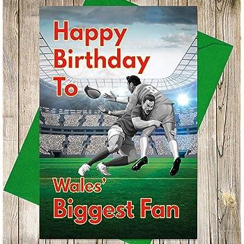 Rugby Birthday Card Glasgow Warriors Biggest Fan Amazon