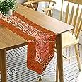 DK Homewares Chemin de Table en Tissu de Tissu de Brocart décoratif Indien 72 Pouces pour Les fêtes Boho brodé Gland Ari Zari