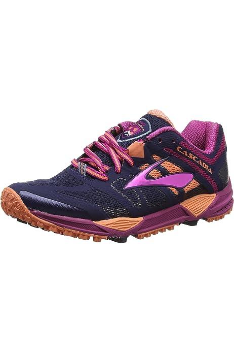 Brooks Cascadia 11 - Zapatillas de Entrenamiento Mujer, Azul (Peacoat/Batonrouge/Fusioncoral 451), 42.5 EU: Amazon.es: Zapatos y complementos