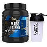 Strava Nutrition Mass Gainer with Whey protein, Ashwagandha extract and Digestive enzymes (Chocolate Flavour) 1kg / 2.2 lbs w