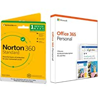 Norton 360 Standard | 1 User 1 Year | Total Security for PC, Mac, Android or iOS&Microsoft Office 365 Personal for 1…