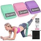 Yabife Elastici Fitness con Video Tutorial, Bande Elastiche con 3 Livelli di Resistenza, Fasce Elastiche Fitness per Esercizi