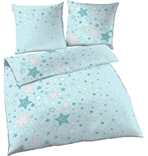 Little Dutch 1743 Bettwäsche Little Stars Mint Größe 135x200